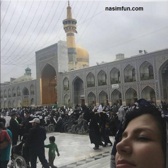 عکس خاله شادونه درحرم امام رضا(ع)درروزعاشورا!!
