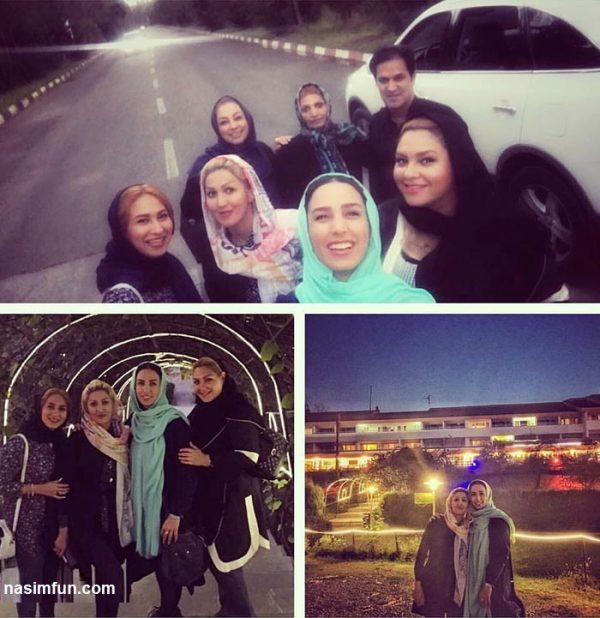 عکس جدید سوگل طهماسبی در گردش با دوستان خانودگی اش!!+عکس