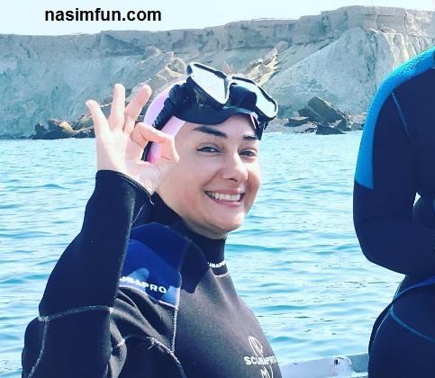 عکس جدید هانیه توسلی در لباس غواصی!!+عکس