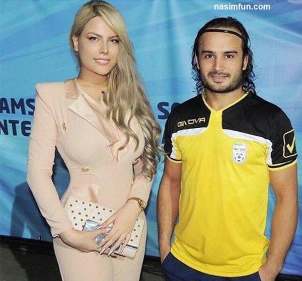 عکس جدید دروازه بان فوتبال ساحلی پیمان حسینی در کنار مدل زن درخارج ازکشور !!! + عکس