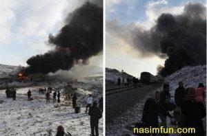 تصادف مرگبار قطار تبریز-مشهد با سمنان-مشهد