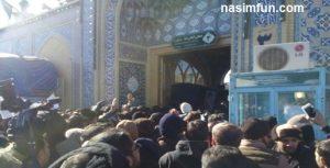فیلم تشیع پیکر آیت الله موسوی اردبیلی + عکس وفیلم