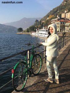 دوچرخه سواری الناز شاکردوست درخارج از کشور !!! + عکس