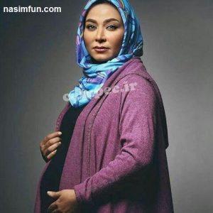 بارداری فقیهه سلطانی بازیگر زن ایرانی همسر جلال امیدیان !! + عکس