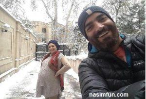 عکس جدید یکتا ناصر وهمسرش در روزهای برفی !! + عکس جدید