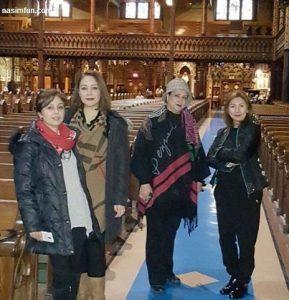 عکس جدید مریم امیر جلالی در کلیسایی در خارج از کشور !! + عکس بازیگر