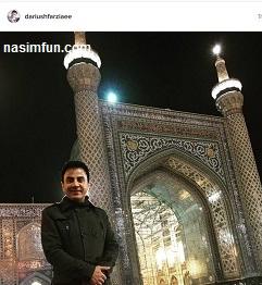 عکس جدید عمو پورنگ در حرم امام رضا !! + عکس جدید