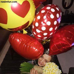 سورپرایز مهراوه شریفی نیا توسط خواهرش ملیکا !! + عکس