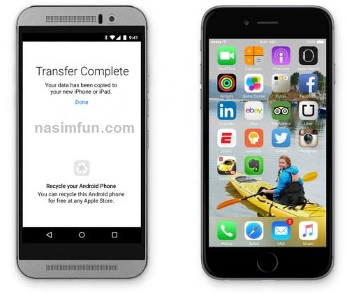 آموزش انتقال اطلاعات از اندروید به ای او اس با Move to iOS