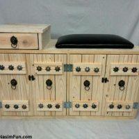 آموزش ساخت جاکفشی با جعبه های چوبی + تصاویر
