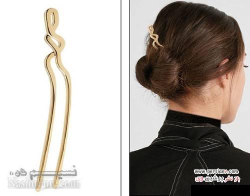 آشنایی با ایده هایی جالب برای تزئین مو با اکسسوارهای شیک+تصاویر