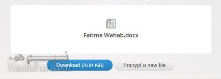 رمز نگاری فایل ها از طریق مرورگر وب+اموزش