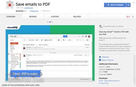 ذخیره کردن ایمیل با فرمت PDF