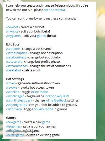 اموزش ساخت ربات در تلگرام