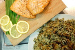 طرز تهیه سبزی پلو با ماهی مجلسی و مخصوص شب عید نوروز + فیلم آموزشی