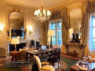اتاق کار پاول دوروف در هتل Ritz پاریس