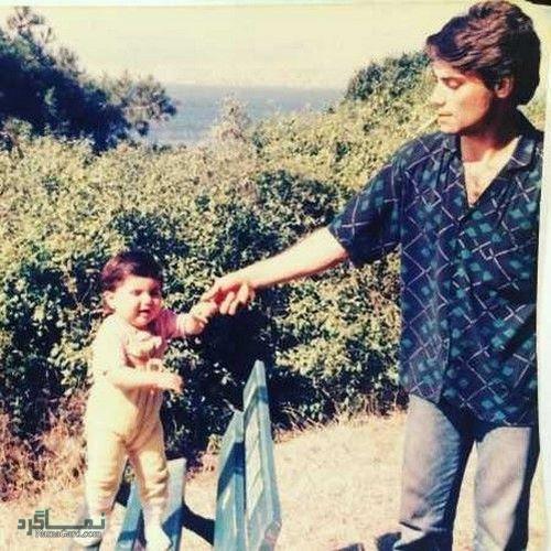 عکس کودکی هلیا امامی و پدرش
