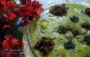 طرز تهیه آش کلم قمری (داش کلم آشی) اصیل و سنتی تبریز + فیلم آموزشی