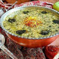 طرز تهیه آش کلم قمری (داش کلم آشی) اصل تبریز + فیلم آموزشی