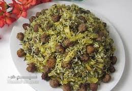 طرز تهیه کلم قمری (کلم سنگی) پلو مجلسی و اصیل شیرازی + فیلم آموزشی
