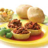 طرز تهیه دلمه سیب زمینی با گوشت و پنیر + فیلم آموزشی