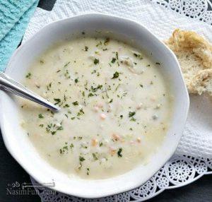 طرز تهیه سوپ ماست با کوفته قلقلی بسیار خوشمزه + فیلم آموزشی