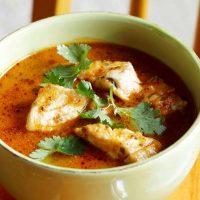 طرز تهیه سوپ ماهی سالمون مجلسی + فیلم آموزشی