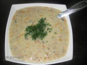 طرز تهیه سوپ شیر (سوپ سفید) رستورانی و خوشمزه + فیلم آموزشی