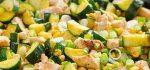 طرز تهیه خوراک کدو سبز رژیمی و فوق العاده + فیلم آموزشی