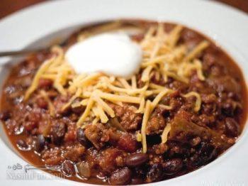طرز تهیه خوراک چیلی کن کارنه اصل مکزیکی و فوق العاده تند و خوشمزه + فیلم آموزشی