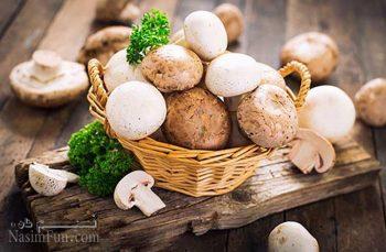 طرز تهیه خوراک قارچی مجلسی با طعمی عالی و بسیار خوشمزه + فیلم آموزشی