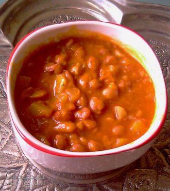 طرز تهیه خوراک لوبیا چیتی با قارچ مجلسی و فوق العاده خوشمزه + فیلم آموزشی