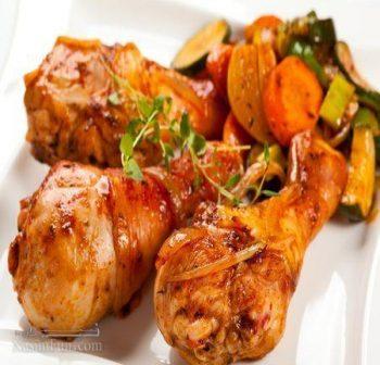 طرز تهیه خوراک مرغ مجلسی و بسیار لذیذ و خوشمزه + فیلم آموزشی