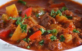 طرز تهیه خوراک تاس کباب مجلسی و بسیار لذیذ با گوشت گوسفند + فیلم آموزشی