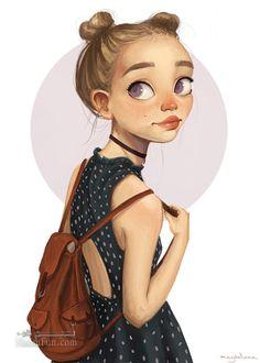عکس پروفایل دخترانه کارتونی خوشگل