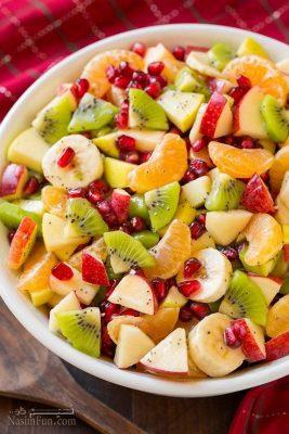 طرز تهیه سالاد میوه بهاری مخصوص مهمانی و بسیار لذیذ + فیلم آموزشی