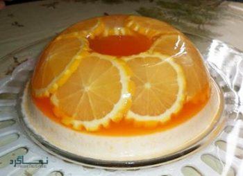 طرز تهیه ژله بستنی پرتقالی خوش طعم و شیک