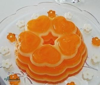 طرز تهیه ژله بستنی پرتقالی خوشمزه + فیلم آموزشی