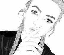 عکس پروفایل دخترانه نقاشی خاص