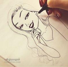 عکس پروفایل دخترونه نقاشی شیک وناب