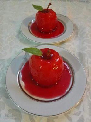 طرز تهیه دسر سیب ژله ای