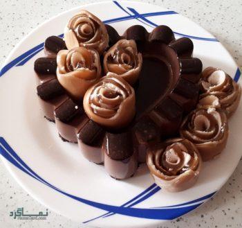 دسر پاناکوتا شکلاتی + تزیین