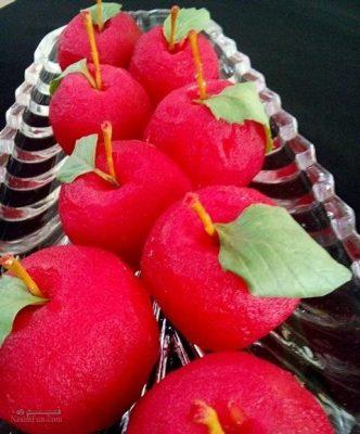 طرز تهیه دسر سیب ژله ای شیک + تزیین