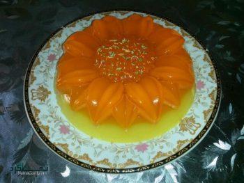 ژله بستنی پرتقالی + تزیین