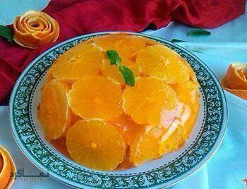 طرز تهیه ژله بستنی پرتقالی خوشمزه + تزیین