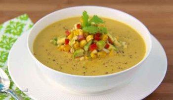 طرز تهیه سوپ ذرت با شیر مجلسی و فوق العاده خوشمزه + فیلم آموزشی
