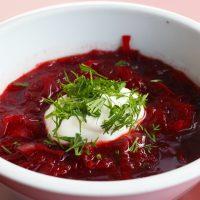 طرز تهیه سوپ برش اصل روسی و بسیار لذیذ با چغندر + فیلم آموزشی