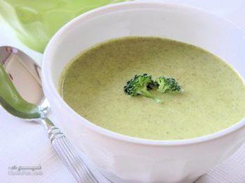 طرز تهیه سوپ بروکلی با شیر مجلسی و فوق العاده خوشمزه + فیلم آموزشی