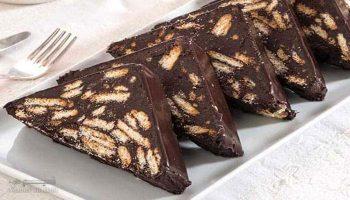 طرز تهیه شکلات بیسکویتی خوشمزه + تزیین