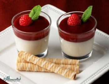 طرز تهیه پاناکوتا توت فرنگی + تزیین